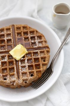 Gluten Free Gingerbread Waffles - I know what we're making for Christmas breakfast!