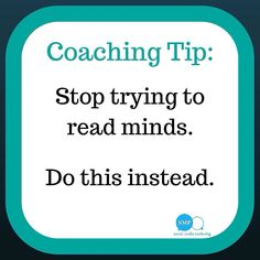 Are you guilty of trying to read minds? Do this instead.  The only way you can know what someone is thinking is to ask them.  Have the courage to sit down and have a one on one conversation.  Shoot them straight.  Be honest.  Be upfront.  Ask the question that youre thinking.  But do it with TACT.  Keep communication flowing in your team.  The best way to grow is to communicate and to connect with each other.  The leader with the most connections eventually wins!  http://ift.tt/1H6hyQe…