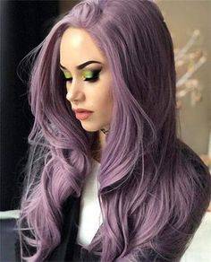 Lavender purple Lace Front Wigs Long Straight Hair Purple Wig for Women Heat OK Purple Wig, Hair Color Purple, Cool Hair Color, Purple Lace, Pastel Hair Colors, Colorful Hair, Hair Color For Kids, Pastel Lilac Hair, Unique Hair Color