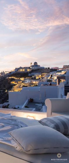 Sunset views from the luxurious Kirini Suites and Spa in Santorini