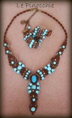 Le Pinocchie: Collana turchese in macramé