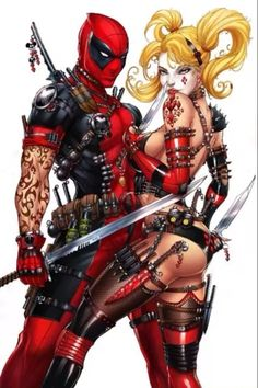 The awesome Deadpool & The sexy Harley Quinn