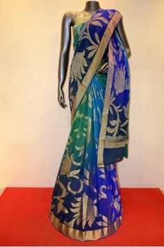 Designer Shaded Pure Georgette Silk Saree     Product Code: AC203708