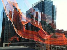 Janet Echelman Suspends Massive Aerial Sculpture Over Boston's Greenway