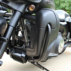 Denim Black Harley Lower Vented Fairings