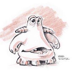 #sketch #drawing #monster #critter #blackwing #characterdesign #doodling