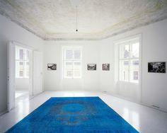 Blauer Teppich by KISKAN PROCESS, Orientteppich, gefärbter Teppich, Wohnzimmer, vintage, orient, muster, Wohneinrichtung, Vintage Teppich, rug, carpet