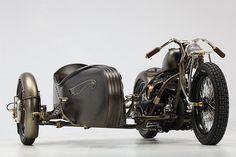 Union, custom 1942 Harley-Davidson Model U and side car - by Abnormal Cycles