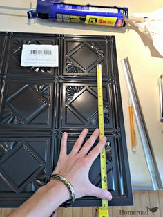 Faux Tin Ceiling Tiles to the Rescue