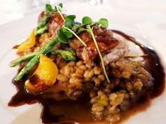 Dining in Southern Portugal: Roasted pork dish at Herdade da Malhadinha Nova