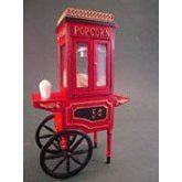 JKM09010   Olde Time Popcorn Machine Olde Time Popcorn Machine by Jeanetta Kendall  This carefully crafted and detailed miniature old time popcorn mac...