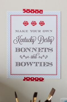 Kentucky Derby Ideas for Kids: DIY Paper Derby Hats & DIY Paper Bowtie (+ free printable) #KentuckyDerby #freeprintables