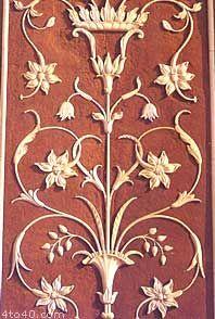 mughal motif: badshahi mosque detail