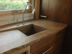Custom Concrete Counter top and sink created by The Concrete Dog Studio