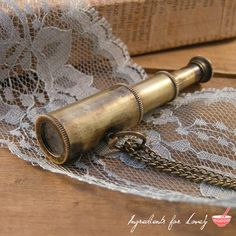 1 pc Vintage Style Collapsible Pirate WORKING Telescope SPYGLASS Pendant Charm Necklace Nautical Antique Brass Bronze CHAIN Included 113