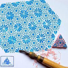 """Pattern of the day. #regnitzflimmern #allstampshandcarved"""
