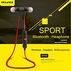 AWEI Bluetooth Wireless SPORT Stereo Headphone Headset Earbud For iPhone Samsung