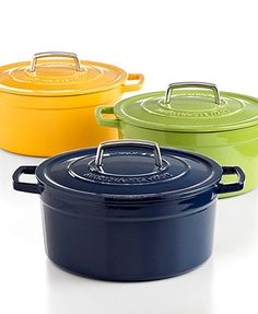 I HAVE TO HAVE THIS! Martha Stewart Collection Collector's Enameled Cast Iron Round Casserole, 6 Qt.