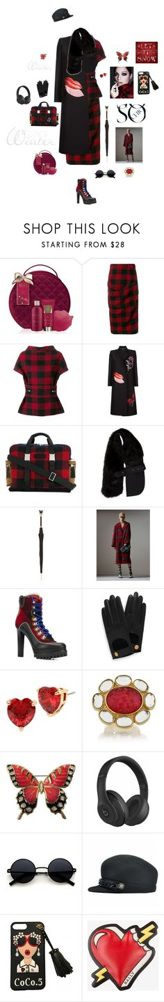 """""""Tartan for today"""" by mbarbosa ❤ liked on Polyvore featuring Baylis & Harding, Marni, Alexander McQueen, Dsquared2, Pasotti Ombrelli, Burberry, Mulberry, Betsey Johnson, Isharya and Beats by Dr. Dre"""