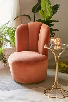 Velour chair