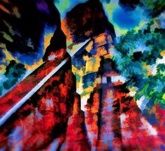 "Saatchi Art Artist Michael Robert Powell; Painting, ""Maya temples of Tikal #2"" #art"