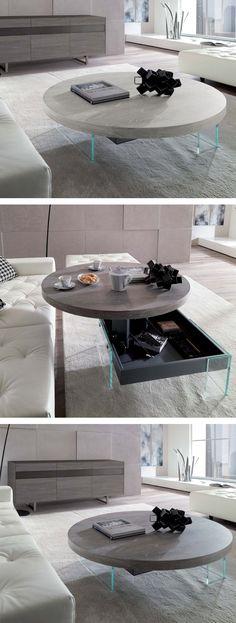 Der Runde Bellagio Couchtisch Von Ozzio Sorgt Mit Seinem Modernen Design  Für Einen Leichten Look.