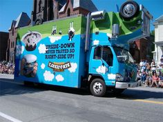 Ben & Jerry's flipped upside-down truck. Free ice cream coming to a community near you!