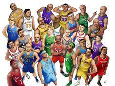 nba_slam_dunk_by_risingkirin. Basketball Leagues, Basketball Pictures, Sports Basketball, Sports Art, Basketball Players, Basketball Quotes, Kobe Bryant Nba, Pokemon, Basketball