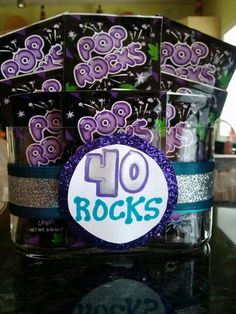 40 Rocks...gag gift for someone's 40th bday