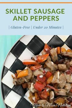 Skillet sausage and peppers is a quick, colorful meal ready in less than 20 mins. All you need is a few staple ingredients and a hot skillet. (gluten-free) #glutenfreerecipes #skilletsausageandpeppers #skilletsausageandveggies #dinnerrecipes #dinnerideas #dinnerrecipesforfamily #dinnerrecipeseasy #under20minutemeals #under20minutedinners Sausage Recipes For Dinner, New Recipes For Dinner, Sausage Peppers And Onions, Stuffed Peppers, Easy Weeknight Dinners, Easy Meals, Nutrition Articles, Best Food Ever, Good Healthy Recipes