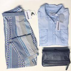 cocaranti I Our #ootd the gorgeous @christophesauvat geo printed pants styled with @rails_la denim shirt and @liebeskind_berlin studded clutch bag!   #newyear #cheshire #shoplocal #shoppingaddict #shopaholic #wishlist #celebritystyle #style #fashion #designer #love #lovewantneed #fashionblog #fashionblogger #blogger #boutique #ontrend #wiwt #styletips #styleadvice #instalove #stealmystyle #fashionista #cocaranti #knutsford #summeriscoming #springfashion #liebeskindberlin #railsla