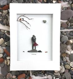Custom Order Pebble Art Couple Engagement Gift Art Modern Wall Art Abstract Contemporary Signed. I will require 4-6 days to create something similar to suit your taste. The pebble art is a unique style made of pebbles collected by me and would be a perfect wedding gift for couple, romantic