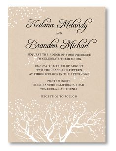 Freshly Fallen Wedding Invitation