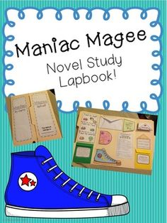 Maniac Magee Lapbook for Novel Study: Character trading cards Story map & summary options) Text to Self, Text, & World Connections Evaluation Grammar Sneaker design extension Friendly letter to a character extension 8th Grade Ela, 5th Grade Reading, Maniac Magee, Text To Text Connections, Text To Self, Friendly Letter, Too Cool For School, Reading Activities, Kids Education