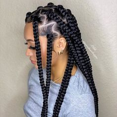 Box Braids Hairstyles For Black Women, Braids Hairstyles Pictures, Black Girl Braids, African Braids Hairstyles, Braids For Black Hair, Girls Braids, Hair Pictures, Protective Hairstyles, Cute Box Braids Hairstyles