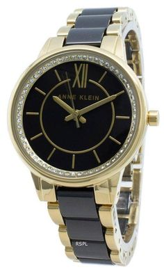 Features: Stainless Steel Case Stainless Steel Bracelet Quartz Movement Mineral Crystal Black Dial Analog Display Diamond Accents Pull/Push Crown Solid Case Back Jewelry Clasp Water Resistance Approximate Case Diameter: Approximate Case Thickness: Back Jewelry, Jewelry Clasps, Stainless Steel Bracelet, Stainless Steel Case, Anne Klein Watch, Stylish Watches, Michael Kors Watch, Rolex Watches, Quartz