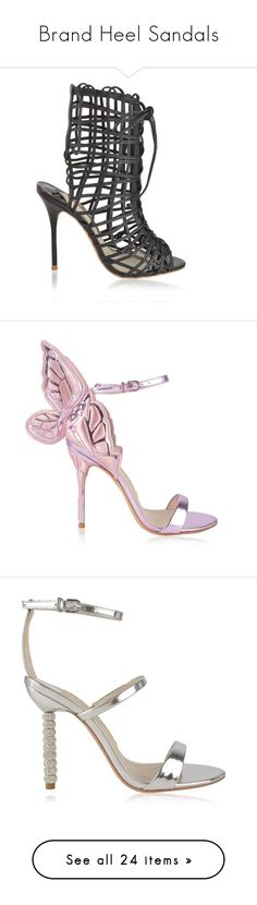 """""""Brand Heel Sandals"""" by shailkdresses ❤ liked on Polyvore featuring shoes, sandals, black, lace-up heel sandals, black high heel sandals, lace up high heel sandals, open toe heel sandals, high heel stilettos, rosa metallic and metallic high heel shoes"""