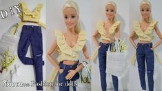 Sewing Barbie Clothes, Barbie Sewing Patterns, Doll Dress Patterns, Clothing Patterns, Diy Clothes, Shirt Patterns, Pattern Sewing, Coat Patterns, Pants Pattern