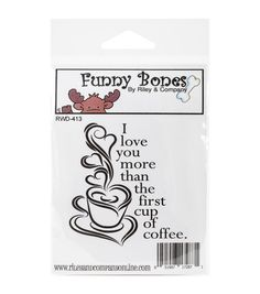 Riley & Company Funny Bones Cling Mounted Stamp-I Love You More