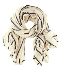 Simple Blue and White Striped Scarf £7.99 I love how nautical this looks #fashion #womensfashion #accessories