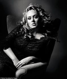 Adele's voluptuous shape has never been an issue! Gorgeous Plus Size.