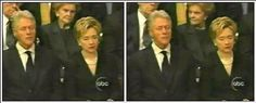 Clintons doze off at Reagan Funeral - only time they have slept together