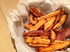 Superfood frieten van zoete aardappel