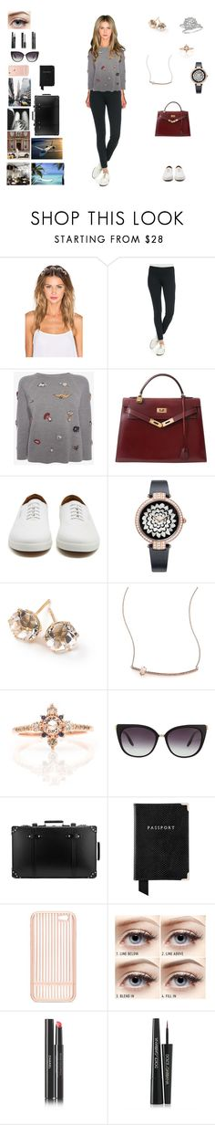 """""""Getting Away"""" by barrybaumbiz ❤ liked on Polyvore featuring Lelet NY, The Row, Alexander McQueen, Hermès, Harry Winston, Ippolita, Jacquie Aiche, Barton Perreira, Tt Collection and Globe-Trotter"""