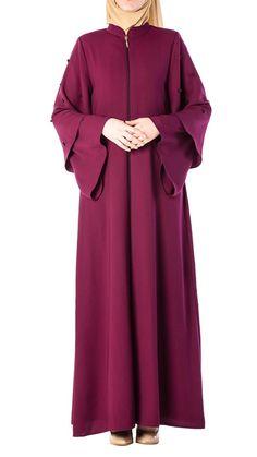 Butikzade - Gül Ferace DF-1017-05-Fuşya Black Abaya, Muslim Fashion, The Dress, Duster Coat, Jackets, Dresses, Down Jackets, Vestidos, Jacket