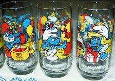 Smurfs Vintage 16 oz Glasses Lot of 5 Peyo 1982 1983 Excellent Condition | eBay