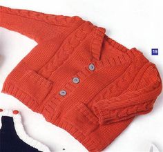 Bergere de France cable Cardigan Knitting Pattern baby boy $