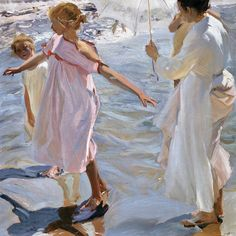 Joaquin Sorolla,  Time For A Bath,1909. Oil on canvas. 150, 150,5 cm. Museo Sorolla, Madrid. 00835.