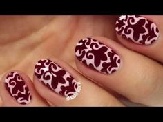 Brocade Nail Art by Hannah Rox It - YouTube