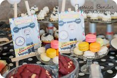 Adorable Desserts At A Vintage Circus Strongman Birthday Party Via Karas Ideas Accessories Stuffs
